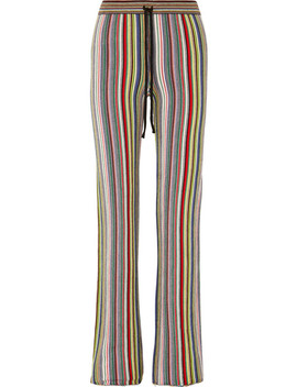 Striped Crocheted Merino Wool Straight Leg Pants by Marques' Almeida