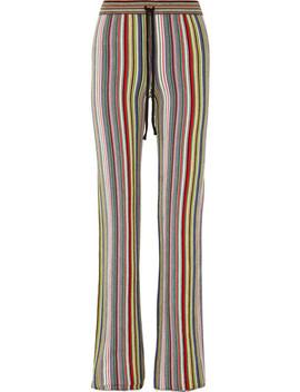 Striped Crocheted Merino Wool Straight Leg Pants by Marques' Almeida
