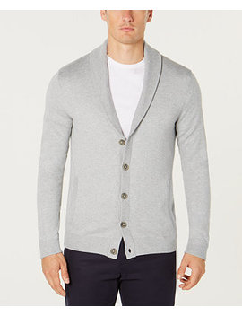 Men's Shawl Collar Cardigan, Created For Macy's by Tasso Elba