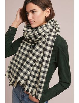 Frayed Gingham Scarf by Anthropologie