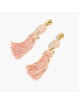 Crystal Studded Bead And Tassel Earrings by J.Crew