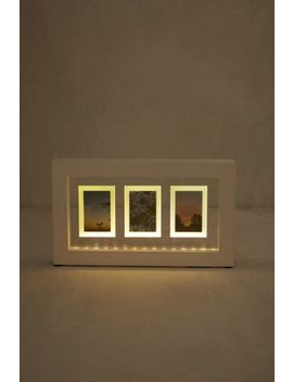 Light Up Instax Mini Trio Picture Frame by Urban Outfitters