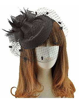 Coolr Fascinators Hair Clip Headband Pillbox Hat Bowler Feather Flower Veil Wedding Party Hat by Coolr