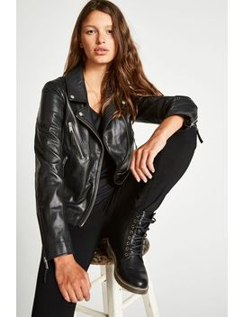 Padstow Leather Biker Jacket by Jack Wills