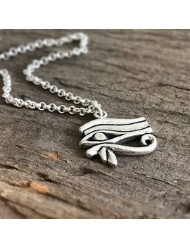 Eye Of Horus Necklace, Egyptian Revival, All Seeing Eye, Third Eye, Eye Of Ra, Sterling Silver Necklace, Bohemian Necklace, Bohemian Jewelry by Etsy