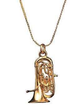 Euphonium Necklace   Gold by Harmony Jewelry