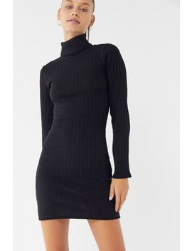 Side Party Gigi Textured Turtleneck Sweater Dress by Side Party