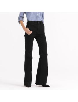 Wide Leg Trouser Jean In Black by J.Crew