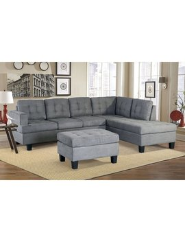 Latitude Run Versailles Sectional With Ottoman & Reviews by Latitude Run