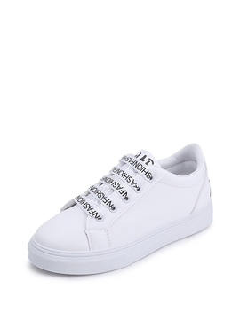 Slogan Detail Lace Up Sneakers by Romwe
