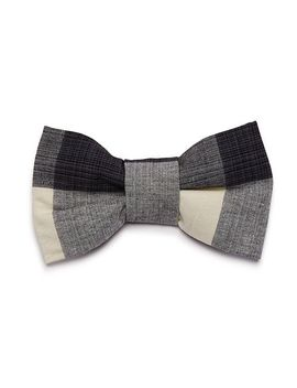 Licorice Check Bowtie by The Foggy Dog