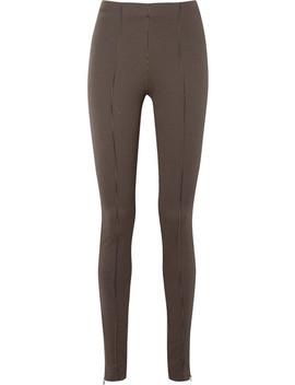 Rodi Houndstooth Stretch Jersey Skinny Pants by Totême