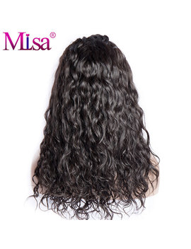 Mi Lisa Hair 180 Density Lace Front Human Hair Wigs Pre Plucked With Baby Hair 14 20 Inches Water Wave Remy Brazilian Hair Wigs by Mi Lisa