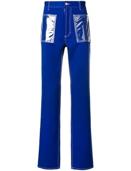 Maison Margielavinyl Patch Pocket Trousershome Men Maison Margiela Clothing Regular Fit & Straight Leg Pants by Maison Margiela