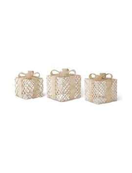 Snowy Set Of 3 Decorative Boxes by K & K Interiors
