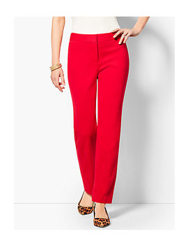 Italian Luxe Knit Straight Leg Pant by Talbots