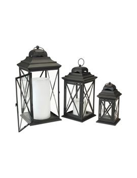 Set Of 3 Lanterns by Melrose Gifts