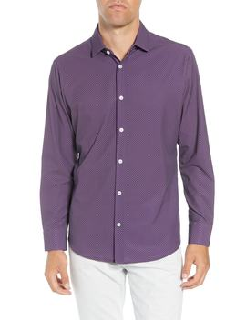 Damon Trim Fit Print Performance Sport Shirt by Mizzen+Main