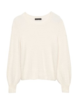 Fuzzy Crew Neck Sweater by Banana Repbulic