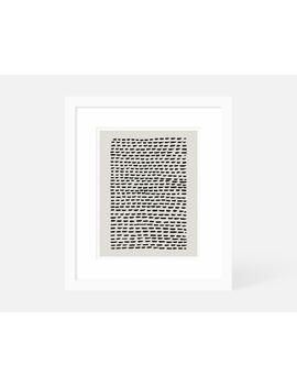 Vertical Minimalist Art / Modern Art Vertical / Neutral Art Print Large / Framed And Matted /  16x20 11x14 8x10 5x7 by Etsy