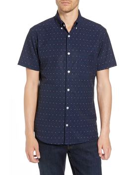 Jameson Slim Fit Dot Performance Sport Shirt by Mizzen+Main