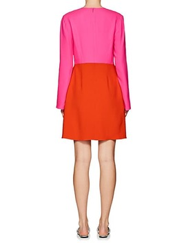 Colorblocked Crepe Sheath Dress by Lisa Perry