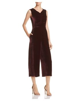 Cropped Velvet Jumpsuit   100 Percents Exclusive by Rebecca Taylor