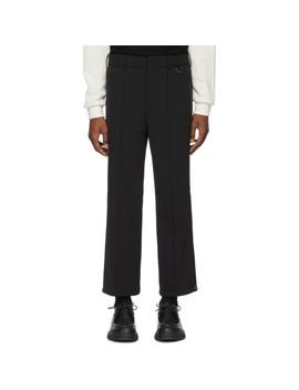 Black Zippered Cuff Ski Trousers by Neil Barrett