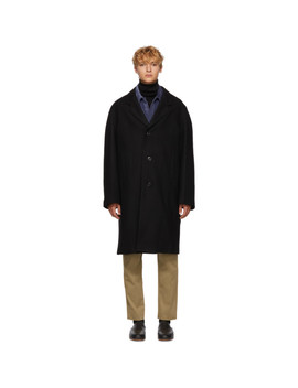 Black Chesterfield Coat by Lemaire