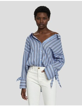 Mai Oversized Off Shoulder Shirt by Farrow