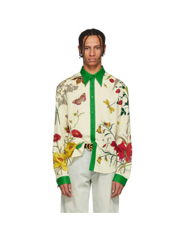 Multicolor Floral Shamrock Shirt by Gucci