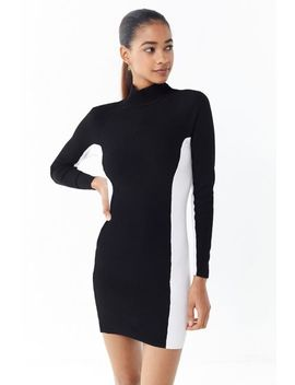 Uo Luna Colorblock Turtleneck Mini Dress by Urban Outfitters