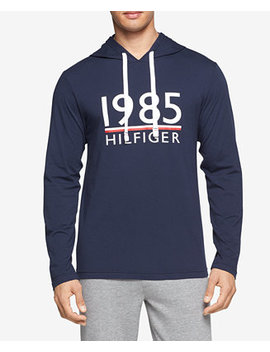 Men's Modern Essentials Cotton Logo Graphic Hoodie by Tommy Hilfiger