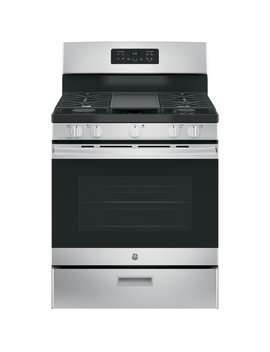 "Ge Appliances 30"" Free Standing Gas Range With Griddle & Reviews by Ge Appliances"