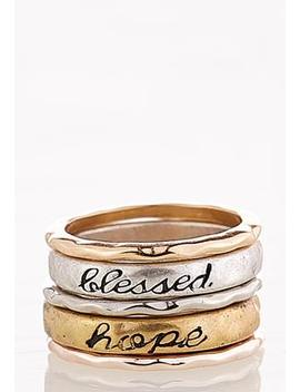 Inspirational Ring Set by Cato