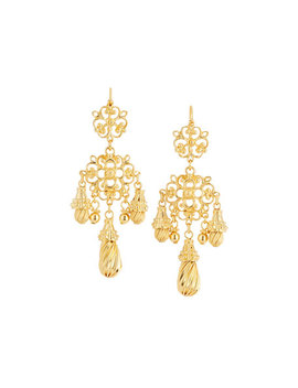 Filigree Teardrop Earrings by Jose & Maria Barrera