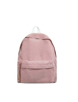Basic Style Corduroy Backpack (Pink) by Etsy