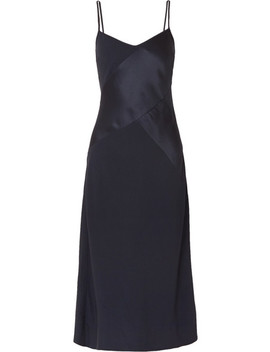 Duckling Paneled Crepe And Satin Midi Dress by J.Crew
