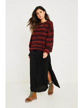 Uo Jacquard Side Button Midi Skirt by Urban Outfitters