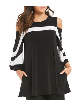 Open Shoulder Trim Platter Top by Ic Collection
