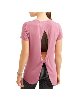 Athletic Works Women's Active Short Sleeve Twist Back Performance T Shirt by Athletic Works