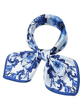 Corciova Women 100 Percents Mulberry Silk Neck Scarf Small Square Scarves Neckerchiefs by Corciova