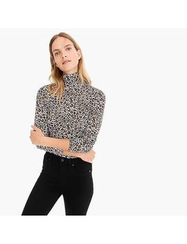 Tissue Turtleneck T Shirt In Leopard by J.Crew