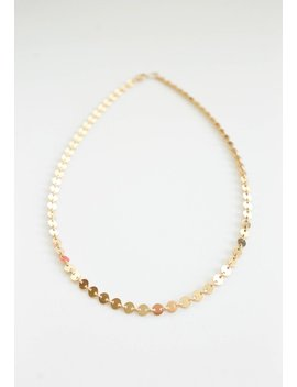 Sequin Choker   14k Gold Filled Necklace   Custom Length   Layering Necklace   Gift For Her   Disc Chain   Simple Necklace   Chain Necklace by Etsy