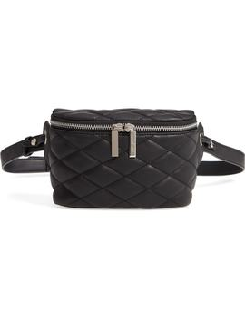 Mali + Lili Faye Vegan Leather Quilted Belt Bag by Mali And Lili