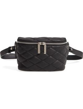 Mali + Lili Faye Vegan Leather Quilted Belt Bag by Mali And Lili