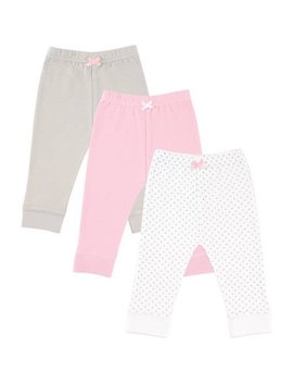 Baby Girl Pants With Tapered Cuff, 3 Pack by Luvable Friends