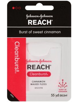 Reach Cleanburst Cinnamon Waxed Floss, 55 Yards (Pack Of 4) by Reach