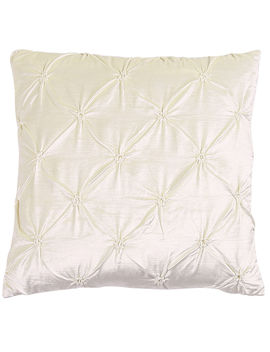 Ivory Gillmore Pin Tuck Throw Pillow by At Home