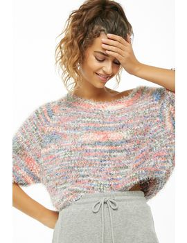 Multicolored Off The Shoulder Sweater by Forever 21